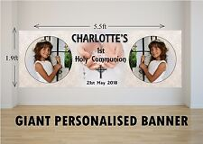 Personalised GIANT Large Girls Boys Holy Communion Banner N25