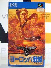 Europe War, Sensen, Operation, Path to Victory, Super Famicom, Nintendo, JAPAN !
