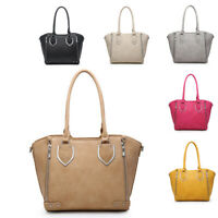 Ladies Stylish Faux Leather Zip Handbag Chic WAG Bucket Shoulder Bag MA36224
