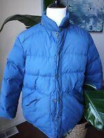 vintage eddie bauer blue down puffy jacket M L XL (?) tear