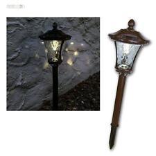 LED Solar Gartenleuchte Wegeleuchte Laterne Metall braun, Wegelampe Gartenlampe