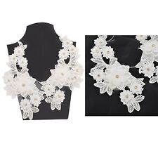 Sanskriti Indian Handmade Pair Applique Craft White Dress Decor Patch