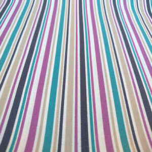 100% COTTON FABRIC BOHO STRIPE PRINT QUILTERS COTTON BTY SEWING DIY FACE MASK