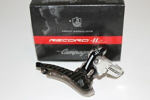 CAMPAGNOLO RECORD 11 CARBON FRONT DERAILLEUR / MECH DOUBLE 11 SPEED CLAMP ON *