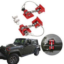 Pair Vintage Style Hood Latch Catch Locking Hold Down For Jeep Wrangler JK 07-17
