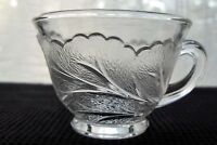 Indiana Glass Clear Pebble Leaf Twiggy 5 oz Punch Cup