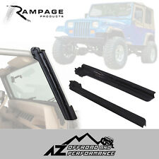 Rampage Windshield Uprights fits 1987-1995 Jeep Wrangler YJ 69998 Black