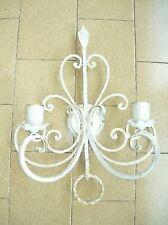 Lámpara de pared aplique hierro forjado blanco a un luz hecho a mano