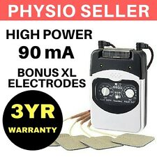 90mA PHYSIO TENS MACHINE MASSAGER UNIT FOR PAIN RELIEF & ACUPUNCTURE WITH PADS