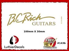 BC Rich Guitar Decal Headstock Decal Waterslide Inlay Logo 143b