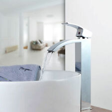 Modern Polished Chrome Bathroom Sink Faucet Mixer Tap Vanity Faucet Tall Spout