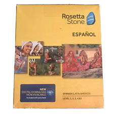 Rosetta Stone Español Spanish-Latin America Level 1 through 5 + Digital Download