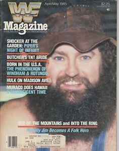 WWF Magazine April May 1985 Wrestling Hillbilly Jim Roddy Piper WWE Vintage