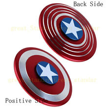 Hand Fidget Finger Spinner ADHD Focus Toy For Adult Captain America Shield Metal