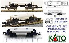 KATO 11-107 TELAIO CHASSIS MOTORIZZATO mm.15 ELABORAZIONI 8 WHEEL DRIVE SCALA-N