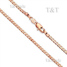 T&T 3mm 9K Rose Gold Filled Curb Chain Necklace 60cm (CF112Z)