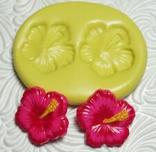 "3/4"" Silicone Resin Polymer Metal Clay Fondant Flexible Push Mold HIBISCUS"