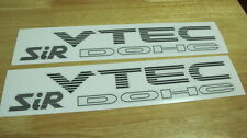 VTEC DOHC SiR Decal Sticker for Honda Civic EG 92 93 94 95 (Dark Gray color) SR3