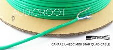 Bulk 10 feet of CANARE L-4E5C GREEN Miniature Star Quad Microphone Cable