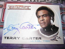 THE COMPLETE BATTLESTAR GALACTICA TERRY CARTER AS COL.TIGH A16 AUTOGRAPH MINT
