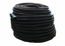 "20 FT - 1/2"" INCH BLACK SPLIT LOOM WIRE HOSE COVER CONDUIT POLY TUBE TUBING 4"