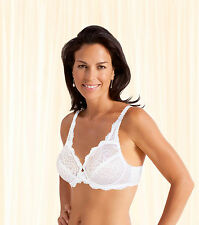 Playtex Flower Lace P5832 Underwired Full Cup Non Padded Supportive Bra 38 G White