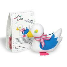 LUCIE LOU Cuddly Felt Blue & White DUCK Sewing Kit Adults & Kids Age 8+ by CLARA