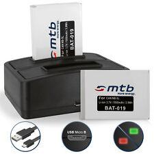 2x Batteria NB-5L + Caricatore doppio per Canon PowerShot SD990 IS,SX200 IS