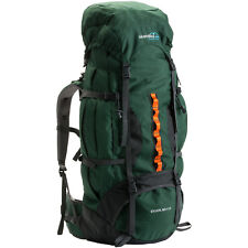 skandika Eiger 80+10 Liter Trekking-Rucksack mit Regenhülle grün NEU
