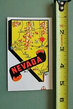 New listing Nevada Map Mountains Desert V12 Vintage 1960's Water Transfer Window Decal