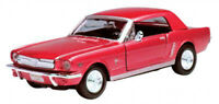 1964 1/2 Ford Mustang, Red - Showcasts 73273 - 1/24 scale Diecast Model Toy Car