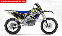 Custom Decal MX Graphics Kit Vinyl for Yamaha YZ450F YZF450 2010 2011 2012 2013