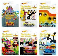 2016 Hot Wheels Beatles Yellow Submarine WalMart Set of 6 1:64 Diecast Set!