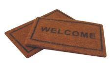 One Welcome Mat & One Plain Mat, Dolls House Miniature, Door Accessory