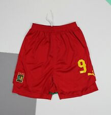 Cameroon #9 Samuel Eto'o Player Issue Home Football Shorts Puma