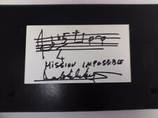 "Lalo Schifrin Hand-Drawn ""Mission Impossible"" Quotation and Signature"