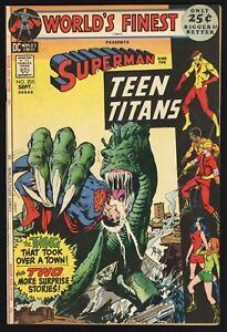 World's Finest #205 (D.C. 9/71) 52 page oversized; Teen Titans app VGF 5.0