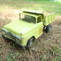 Vintage 1960s Green Tonka Toys STATE HI-WAY DEPT Pressed Steel Dump Truck flawed