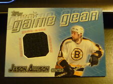 2000-01 Topps Stars JASON ALLISON Game Gear Game-Worn GU Jersey Boston Bruins