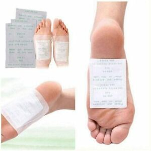 10 PCS Detox Foot Patches Pads Body Toxins Feet Slimming Cleansing Herbal UK
