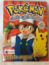 Pokemon Empty Sticker Album with Poster (Merlin Collections) | Good Condition