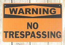 Vendedor de Estados Unidos-Advertencia de venta de garaje signos no flatulentos zona Tin Metal Sign