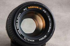 Minolta 50mm 1.4 MC Rokkor-X PG Prime Manual Focus Lens