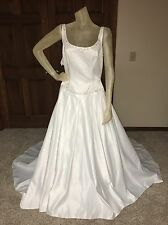 Alfred Angelo Wedding Dress Size 12 White Missing sz tag see measurements