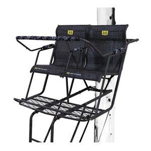 Hawk Big Denali Durable Steel 18' 2-Man Ladder Tree Stand with Safe-Tread Steps