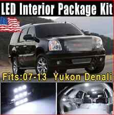 16X Xenon White LED Light Interior Package Kit 2007-2013 For GMC Yukon Denali