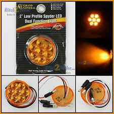 """2"""" Round Amber Dual function 7 LED Low profile marker clearance light 76625"""