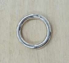 "10 pack 1"" I.D. Nickel Plated RINGS over Steel The Leather Guy"