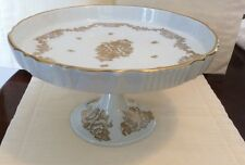 Porcelaine De France Gold Rose Dessert Stand • Tazza  • Compote Hand Painted