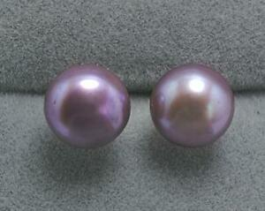 Real AAA+ natural 6-7mm white south sea  pearl earrings 14k Gold stud earring